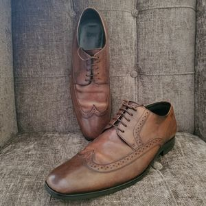 Hugo Boss mens burnished brown oxford SZ 9